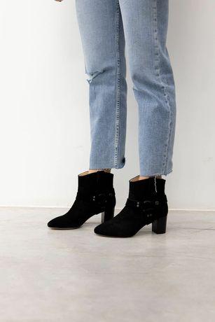 Итальянские замшевые ботинки Morobe