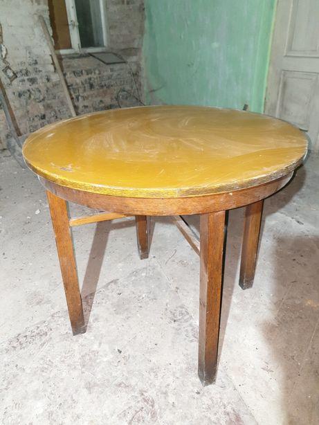 Antyk stół stolik okragly stare meble drewniane