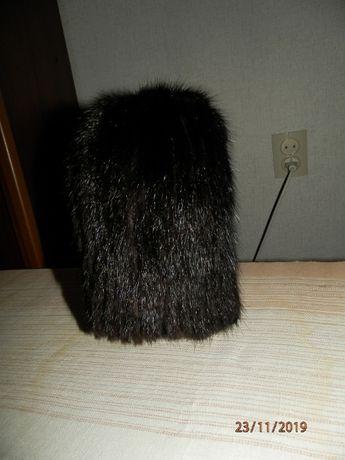 Продаю шапку на вязаной основе из меха ондатры