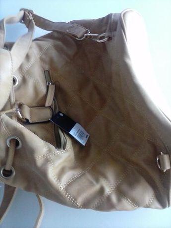 Saco-mochila amarelo torrado novo
