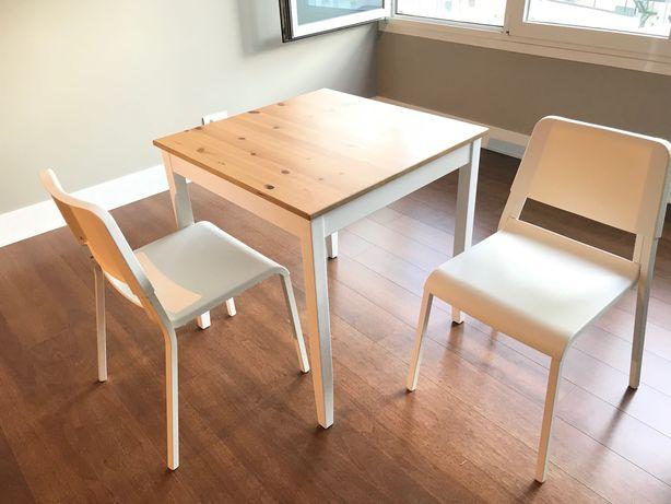 Mesa de Refeição IKEA LERHAMN + cadeiras  TEODORES