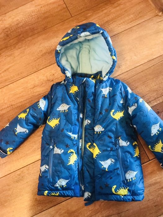Gruba nowa zimowa ciepła kurtka 86 chlopieca na polarze ocieplana Pajęczno - image 1