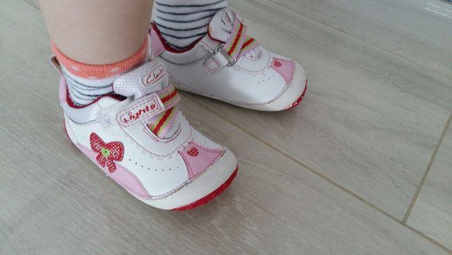 Buty,buciki Clarks roz 21 dł wkł.13cm bardzo miękkie,skórzane