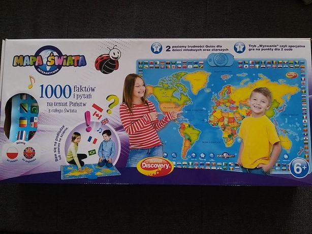 Gra interaktywna mapa świata