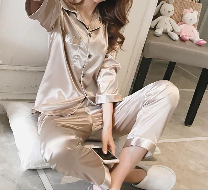 Пижама. Домашняя одежда. Костюм. Шелковая, атласная пижама Киев - изображение 1