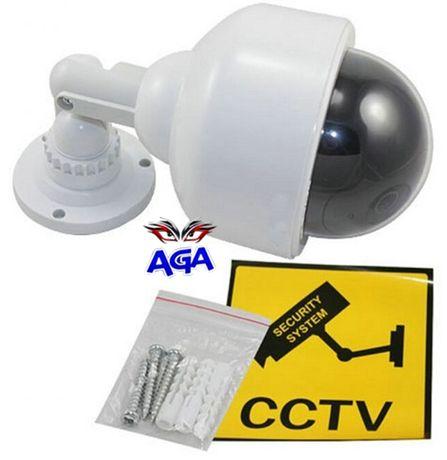 Atrapa Kamery Monitoring Zewnętrzny LED