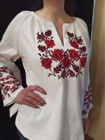 Распродажа,блуза,кофта,бисер,ручная работа,вышиванка женская,габардин