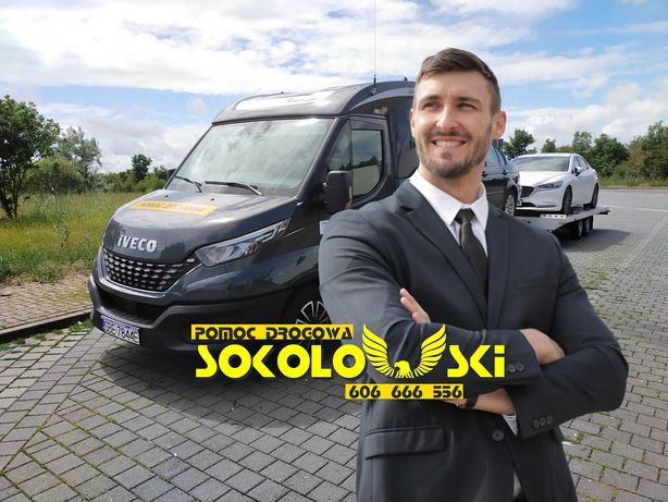 POMOC DROGOWA Katowice 24H Laweta AutoLaweta Holowanie Transport Aut
