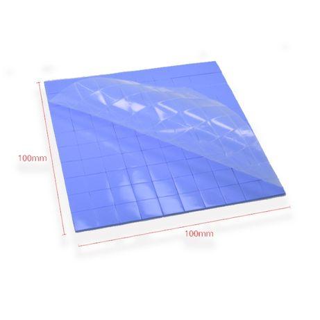 Силиконовая термопрокладка под радиатор 10х10х1 мм TISHRIC, 100 шт