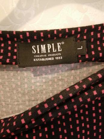 Bluzka Simple rozm.L 40 czarna we wzorek
