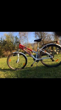 Rower Pegasus biało rózowy koło 26