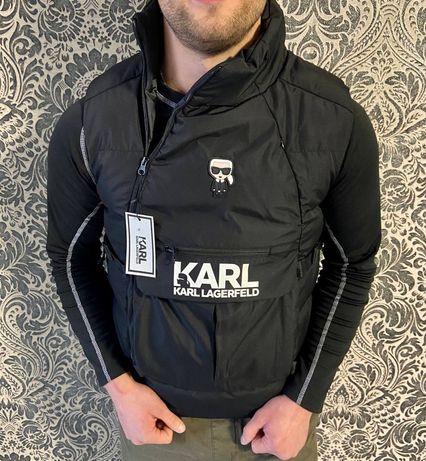 Мужской жилет Karl Lagerfeld. Черный. Киев. S,M,L,XL,XXL.