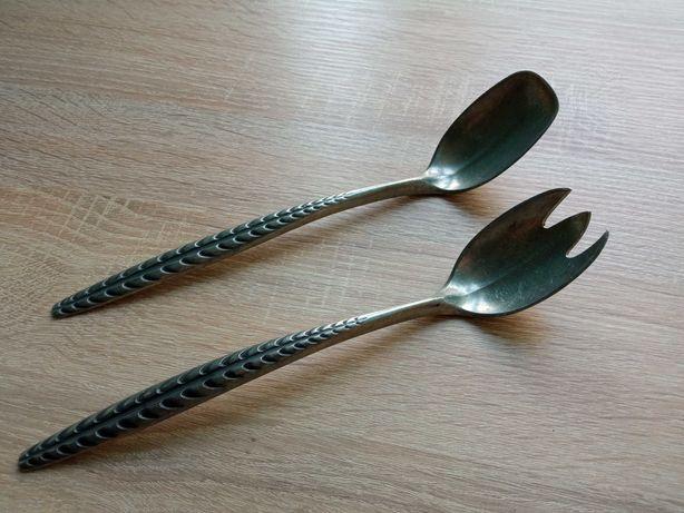 Антикварный набор из 2-х предметов норвежской посуды Konge Tinn Pewter