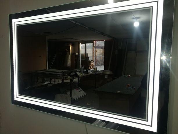 Зеркало с подсветкой (Lad), зеркало в ванную, для макияжа, дзеркало