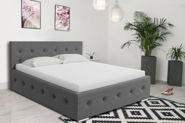 Łóżko sypialniane tapicerowane różne wymiary stelaż+pojemnik GRATIS!