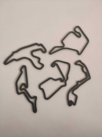 Pistas de Formula 1 para decoração