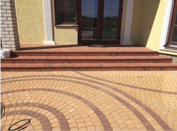 Укладка тротуарной плитки/благоустройство участка/укладка газона