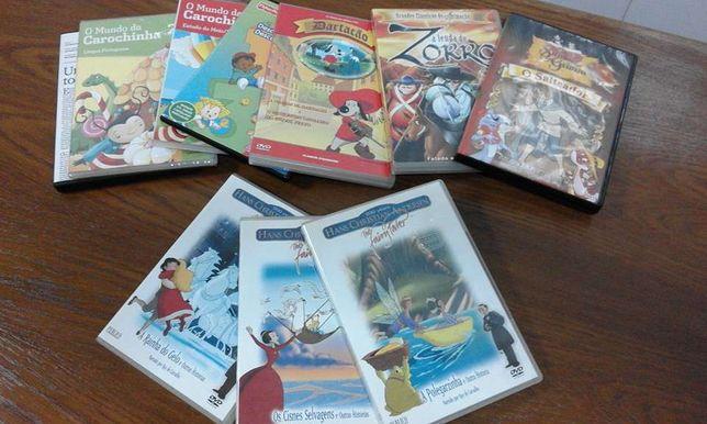 DVDs de animação, 10 unidades, vários títulos ( estado novo)