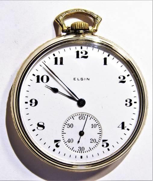 Zegarek kieszonkowy ELGIN z 10-karatowego złota. Kłobuck - image 1