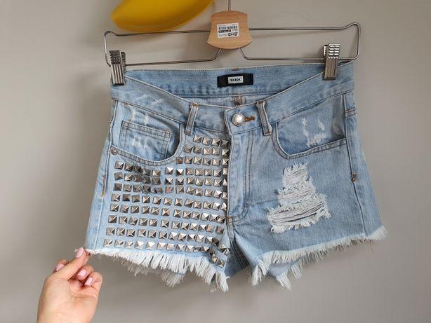 Spodenki jeansowe wysoki stan 34 xs
