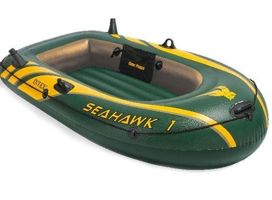 Одноместная надувная лодка 193-108-38 с надувным дном INTEX SEAHAWK 1