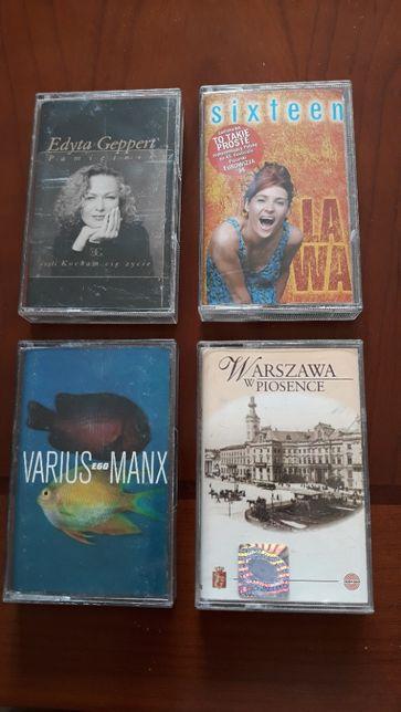 Kasety magnetofonowe, archiwalne, z polskimi wykonawcami, oryginalne