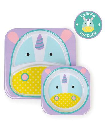 В НАЯВНОСТІ Набір тарілок Skip Hop Zoo дитячий посуд тарілочки 2 шт