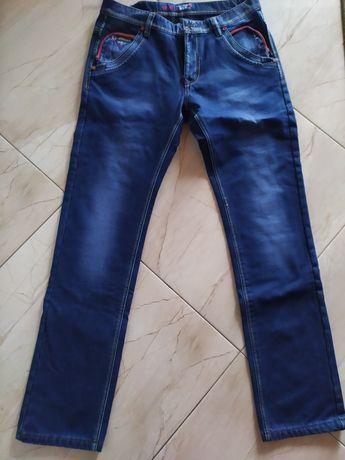 Spodnie ocieplane jeansowe