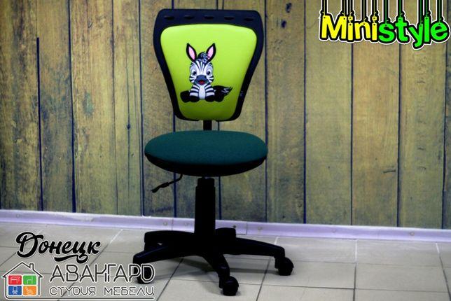 """Яркое детское компьютерное кресло с рисунками из велюра """"Ministyle"""""""
