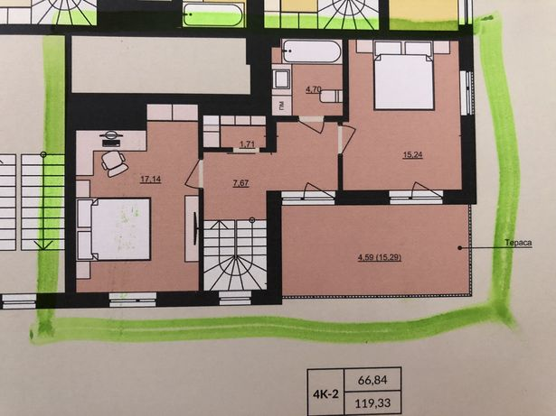 Елітна 4-х кімнатна дворівнева квартира преміум класу в новобудові ЖК