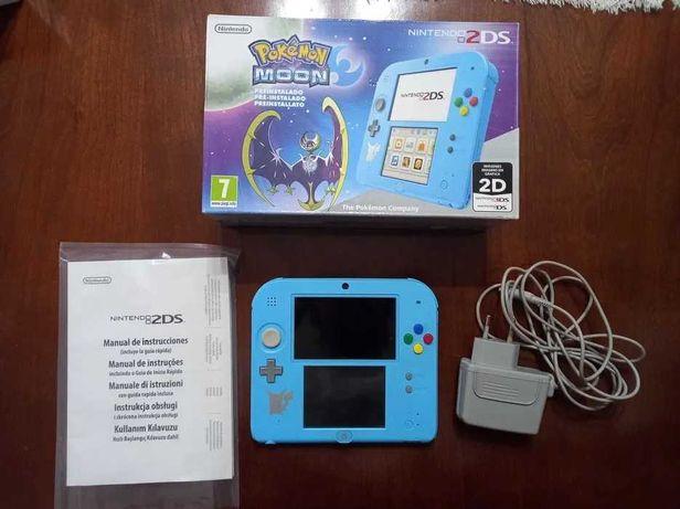 Nintendo 2DS (Sun & Moon Edition) + Pokemon Moon | Completo (3DS)