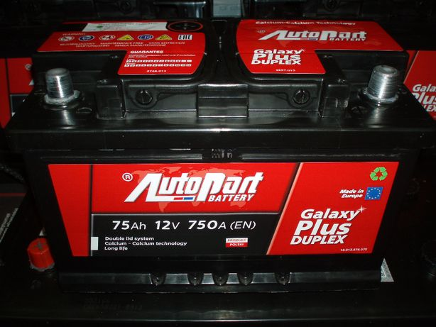 Akumulator 12V 75Ah AutoPart Plus Duplex nowy Kielce-dowóz gratis