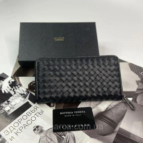 Мужской кожаный кошелёк портмоне Bottega Veneta чоловічий гаманець