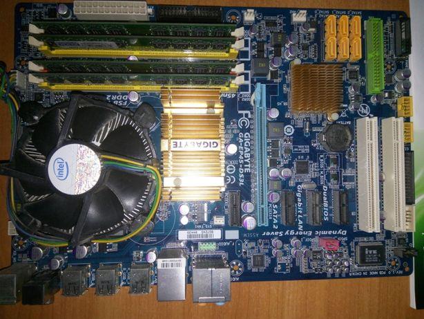 Комплект: материнська плата, процесор, модулі пам'яті, мережева плата