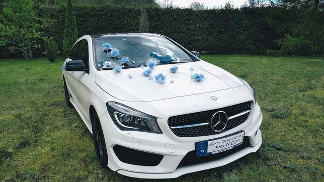 Samochód Auto do ślubu MERCEDES CLA 250, biały, Luksus w dobrej cenie