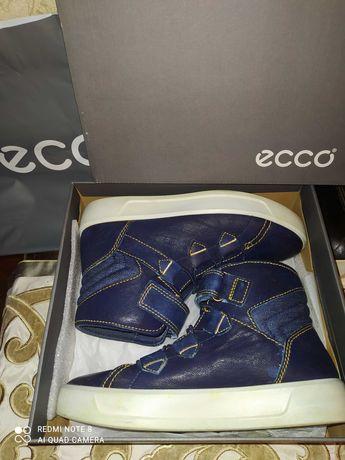 Sneakersy Ecco 35 S8, skórzane trzewiki, granatowe, skóra soft, j.nowe