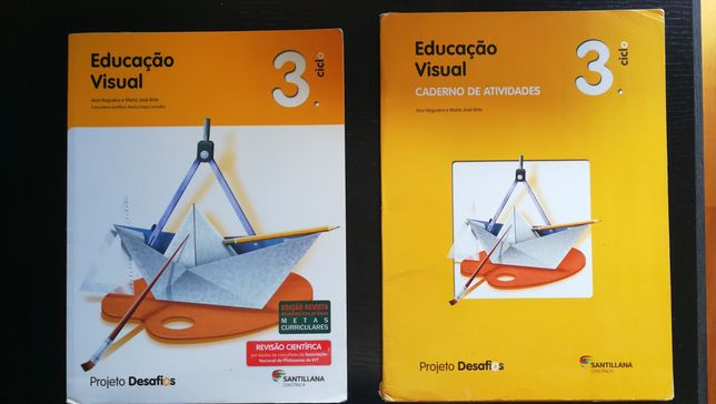 Educação Visual 3 Manual + Caderno atividades Projeto Desafios 7Ano