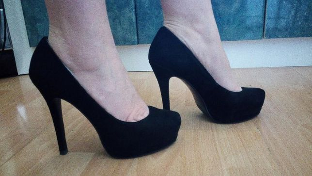 Туфлі жіночі натуральна замша (37 р., каблук: 12,5 см)