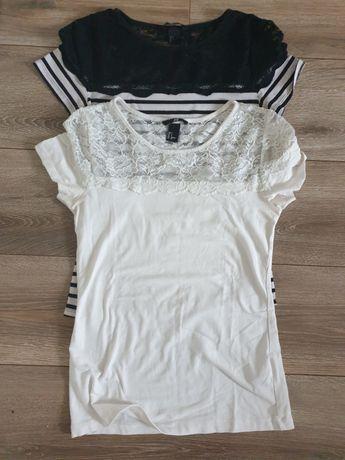 H&M bluzki z koronka rozmiar 36 S