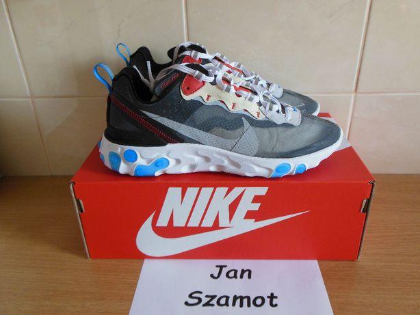 40,5 Nike React Element 87 Dark Grey Photo Blue