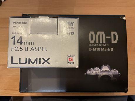 Olympus OM-D E-M10 Mark III + Lumix 14mm f 2.5 II ASPH