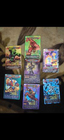Ультра редкие и супер редкие карточки человек паук, супергонки