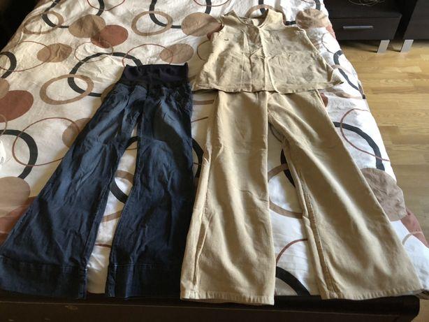 Костюм и джинсы с фудболкой для беременных
