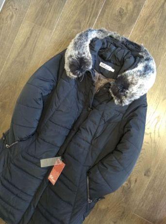 Куртка женская 50р зимняя с мехом Пуховик Парка Пальто с капюшоном