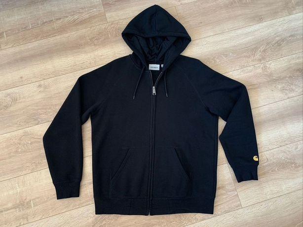 Sweatshirt de fecho com capuz CARHARTT preto, modelo Chase tamanho M.