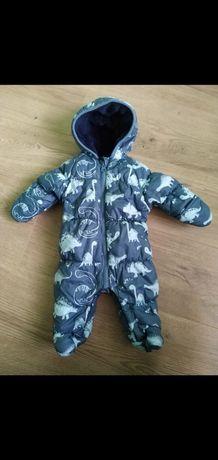 Комбинезон осень-зима для новорождённого  мальчика 0-3 месяца