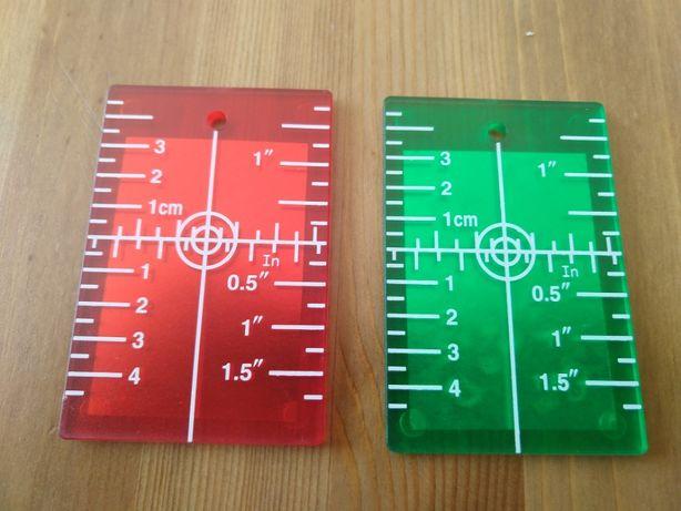 Tarcza do lasera (poziomica, dalmierz) tarczka magnes czerwony zielony