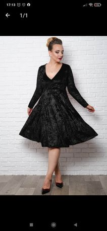 Велюровое, бархатное платье на запах большой размер