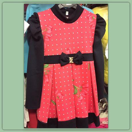 Детское трикотажное платье на 3-4 года, платье для девочки