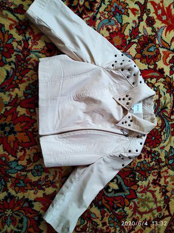 Куртка короткая бежевая